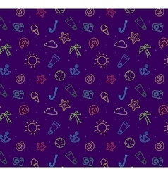 Seamless pattern background for summer vector image vector image