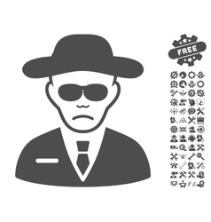 Security agent icon with tools bonus vector