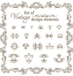Set of retro design elements and page decorations vector