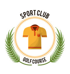 Sport club golf course tshirt vector