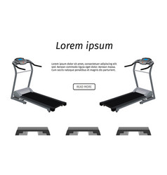 sports trainer apparatus banner two running vector image