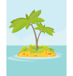 Summer vacation holiday tropical ocean islands vector