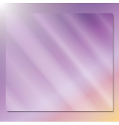 transparent glass on a color background vector image