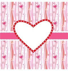valentines greeting card vector image vector image