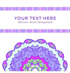 Vintage violet invitation card vector image