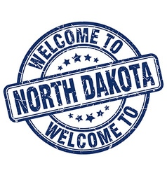 welcome to North Dakota vector image vector image