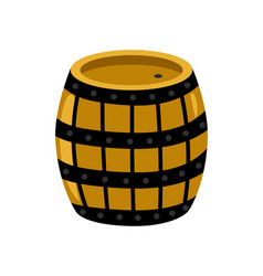 Wooden rum barrel isolated icon vector