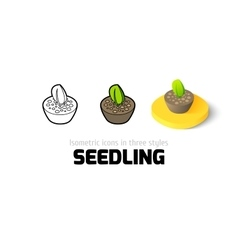 Seedling icon in different style vector