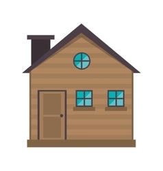 Cottage wooden chimney exterior vector