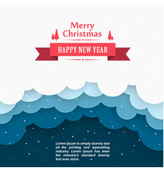 christmas snow background marry cover happy ne vector image