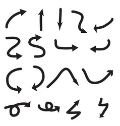 draw arrow icon on white background draw arrow vector image