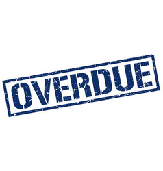 Overdue stamp vector