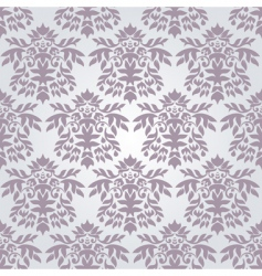 Silver damask wallpaper vector