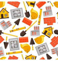 Industrial seamless pattern with housing vector