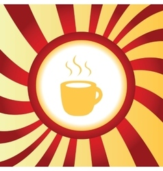 Hot drink abstract icon vector