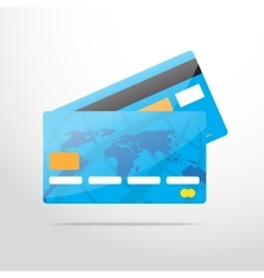 Bank card web flat icon vector