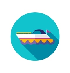 Ship boat flat icon with long shadow vector