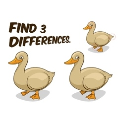 Find differences game duck vector