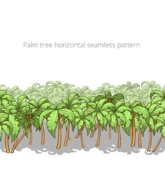 Palm tree horizontal pattern vector image