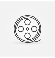 Film reel linear icon vector
