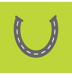 Background with road white marking horseshoe vector