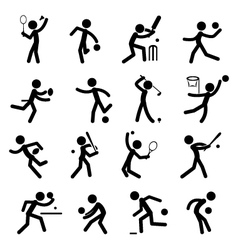 Sport Pictogram Icon Set 01 vector image