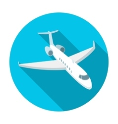 Airplane icon in flat style isolated on white vector image vector image