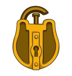 Antique golden lock vector image vector image