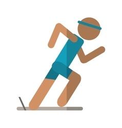 Athletic runner sport active vector