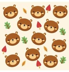 Bear cartoon icon woodland animal graphic vector