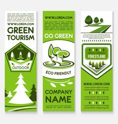 Business template banner set for ecotourism design vector