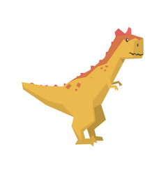 cartoon dinosaur character jurassic period animal vector image vector image