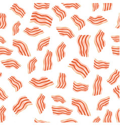 cut bacon seamless pattern vector image