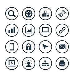Development soft icons universal set vector
