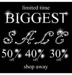 Diamond sale black friday sale vector