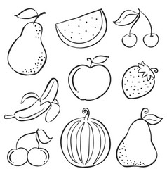 Doodle of fruit fresh hand draw vector