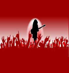 enthusiastic audience vector image