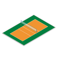 field for playing volleyball in isometric vector image