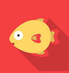Fish flat icon for web and mobile vector