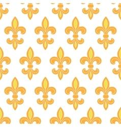 Golden lily seamless pattern background vector image