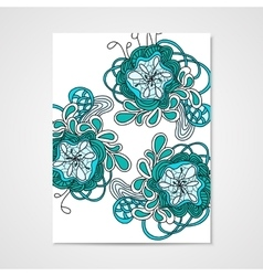 Hand-drawn pattern with abstract flowers vector