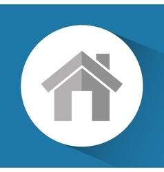 House building with door theme vector