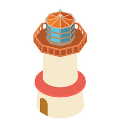 lighthouse vintage icon isometric 3d style vector image