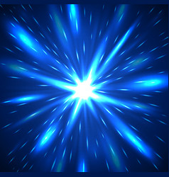 Majestic blue flash abstract background vector