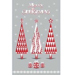 Merry Christmas red and gray vector image vector image