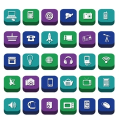 modern technology icons vector image