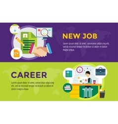 New job search and career work infographic vector image vector image