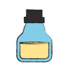 Oil jar object vector