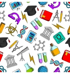 Science and knowledge seamless wallpaper vector image