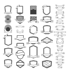 Set of empty emblems and labels templates Design vector image